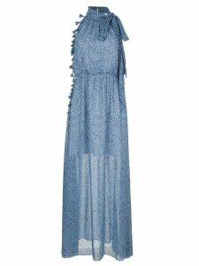 Sachin & Babi Josie leopard maxi dress - Blue