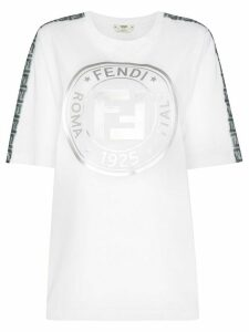 Fendi metallic FF motif T-shirt - White