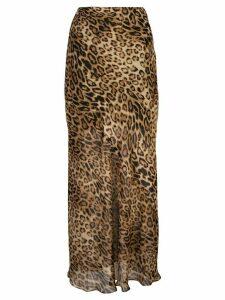Nili Lotan leopard-print skirt - GOLD