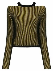 Eckhaus Latta Clavicle ribbed-knit sweater - Black