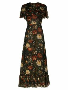 The Vampire's Wife Lady Kristina ruffled floral dress - Black