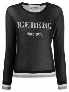 Iceberg long sleeve logo top - Black