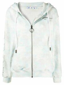 Off-White tie-dye print zipped hoodie - Blue