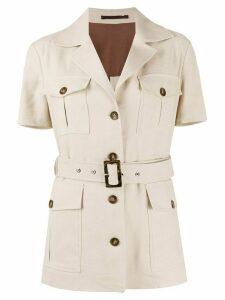 Eleventy short sleeve military jacket - NEUTRALS