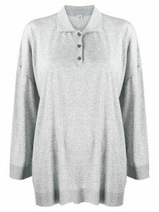 Totême oversized polo shirt - Grey
