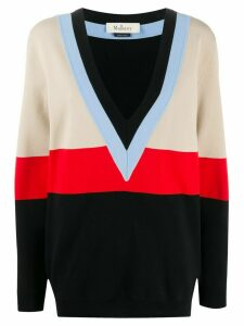 Mulberry Lilly colour-block jumper - Black