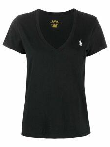 Polo Ralph Lauren embroidered logo T-shirt - Black