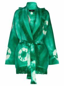 Alanui tie-dye fringed cardigan - Green