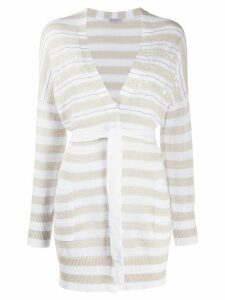 Brunello Cucinelli knitted embellished cardigan - White