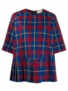 Mulberry Thalia tartan print blouse - Blue
