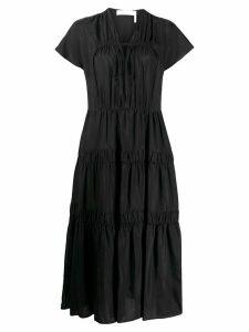 See by Chloé georgette long dress - Black