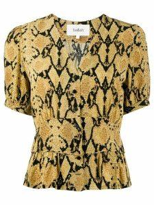 Ba & Sh Cleo snakeskin-print blouse - Yellow