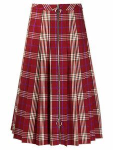 Mulberry Spencer tartan check skirt - Red