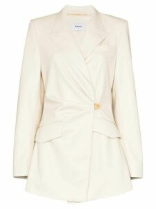 Nanushka Rhett gathered blazer - White