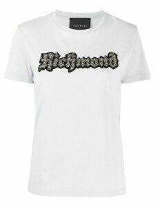 John Richmond embellished logo T-shirt - Grey