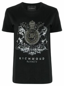 John Richmond embellished crest T-shirt - Black