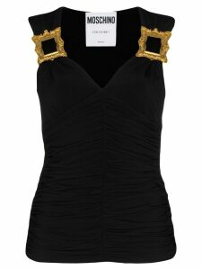 Moschino picture frame detail blouse - Black