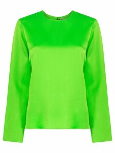 Maison Rabih Kayrouz long-sleeve satin blouse - Green