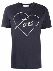 Chinti and Parker Love heart-print T-shirt - Blue