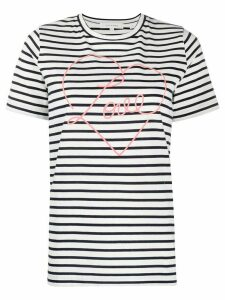 Chinti and Parker Love print striped T-shirt - White