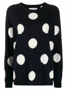 Chinti and Parker polka-dot jumper - Blue