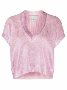 Laneus cropped v-neck jumper - PINK