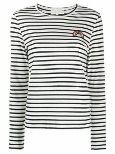 Chinti and Parker patch-embellished Breton striped T-shirt - Blue