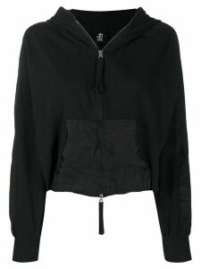 Thom Krom panelled zip-up hoodie - Black
