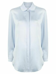 Racil round-collar satin shirt - Blue