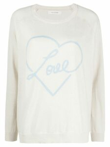 Chinti and Parker Love heart motif jumper - NEUTRALS