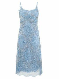 Ermanno Scervino floral lace midi dress - Blue