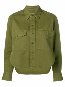 Ami Paris Shirt With Buttoned Chest Pocket - Green