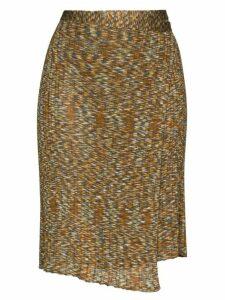 Eckhaus Latta Space wrap skirt - Brown