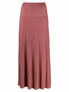 Roberto Collina high-rise pleated knit skirt - PINK