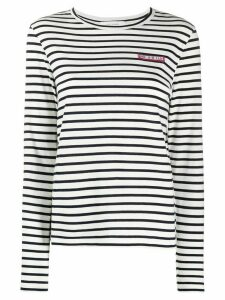 Chinti and Parker patch-embellished Breton striped T-shirt - White
