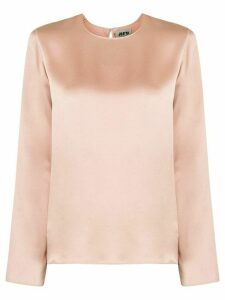 Maison Rabih Kayrouz long-sleeve satin blouse - PINK