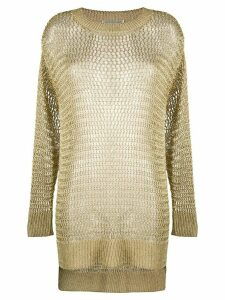 Faith Connexion fishnet knitted jumper - GOLD