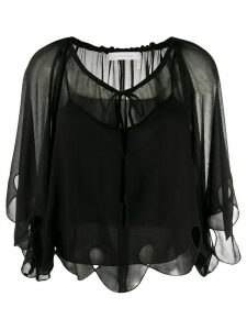 See by Chloé sheer cape blouse - Black