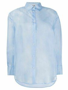 MSGM sheer silk shirt - Blue