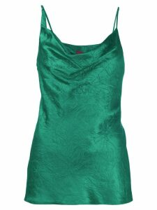 Sies Marjan wrinkle-effect slip top - Green