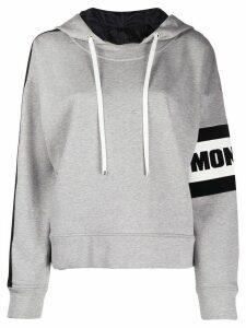 Moncler logo stripe hoodie - Grey