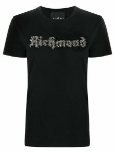 John Richmond embellished logo T-shirt - Black