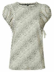 Proenza Schouler logo-printed blouse - White