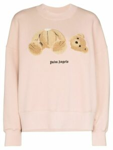Palm Angels Bear logo crew sweatshirt - PINK
