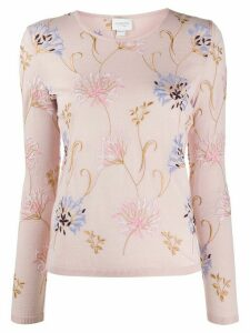 Giambattista Valli floral-embroidered jumper - PINK