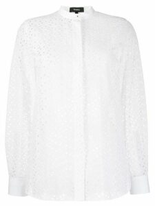 Theory floral cut-out blouse - White