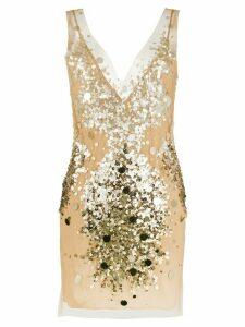 Faith Connexion V-neck sequin embellished dress - GOLD