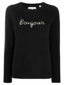 Chinti and Parker Bonjour embroidered jumper - Black