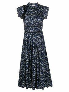 Ulla Johnson Amari floral print dress - Blue