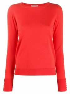 Snobby Sheep high low hem sweater - Red